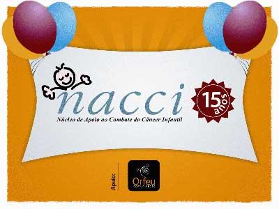 Banner sobre os 15 anos do Nacci