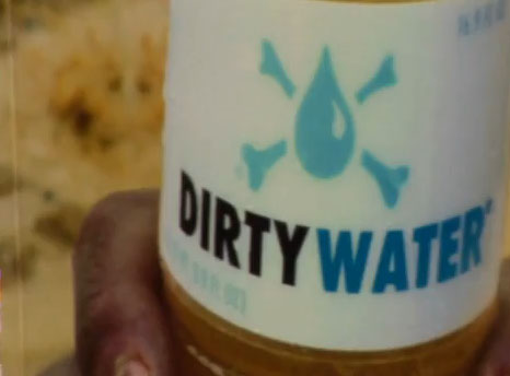 Vende-se água suja para o bem
