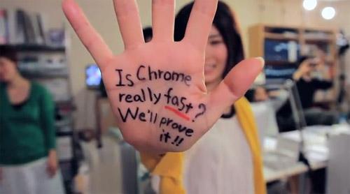Medida de velocidade criativa para o Google Chrome