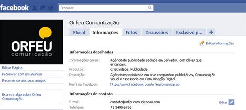 Orfeu Comunicação no Facebook