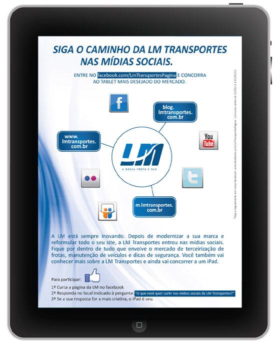 Siga a LM nas mídias sociais e concorra a um iPad