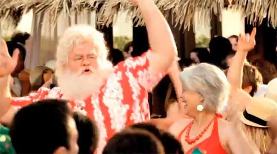 Papai Noel em férias