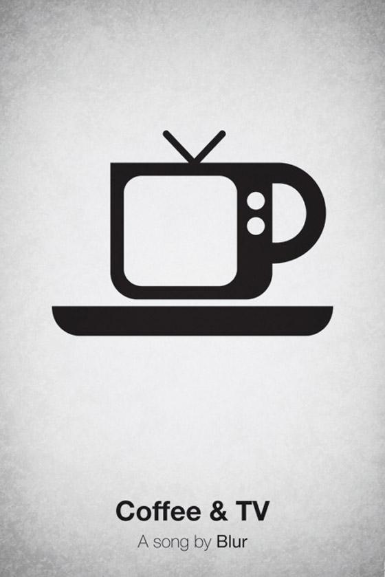 Cartaz representando Blur - Cofee and TV