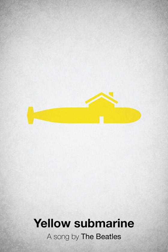 Cartaz dos Beatles  -Yellow Submarine