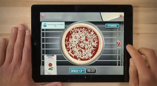 Pizza no iPad