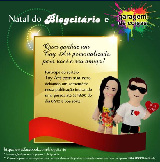 """Sorteio de Natal """"Toy Art com sua cara"""""""