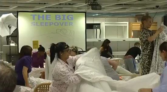 Festa do pijama da IKEA