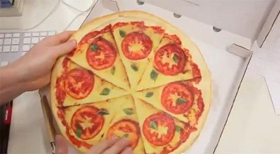 Pizza publicitária