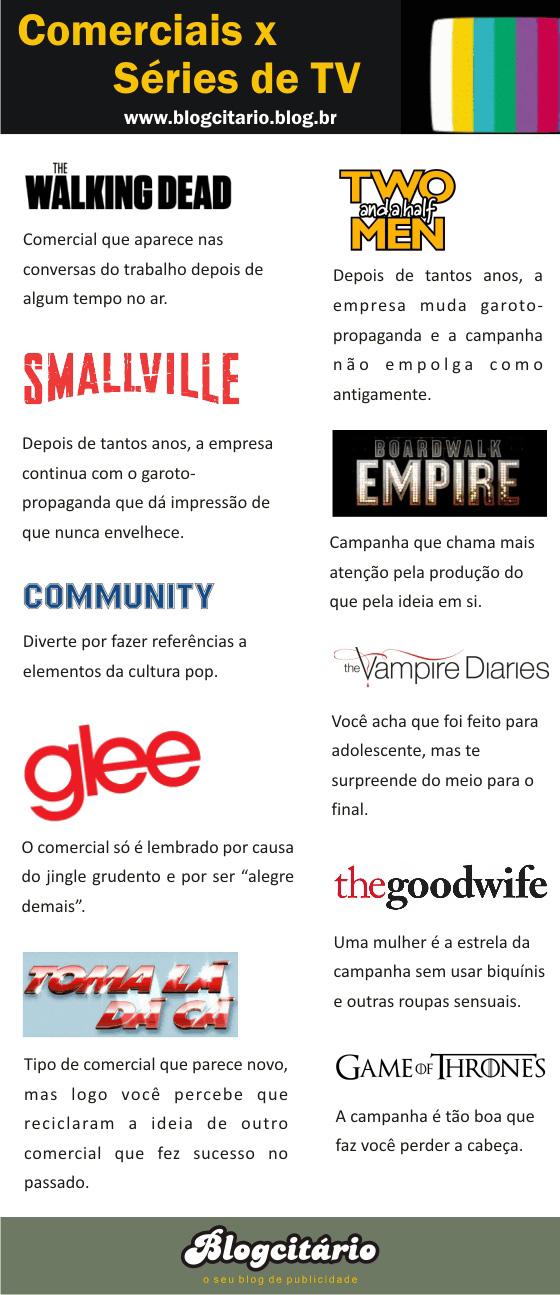 Comerciais x Séries de TV – 2ª temporada