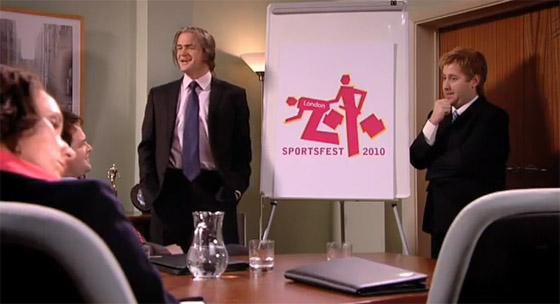 Trollagem sobre o logo das Olimpíadas 2012