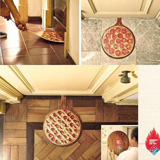 Anúncio delivery de pizza