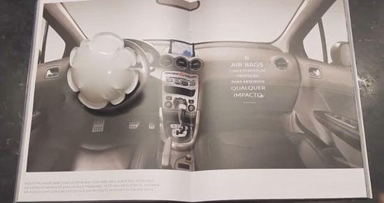 Anúncio com Air Bag