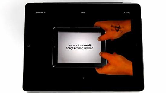 Anúncio para proteger o iPad