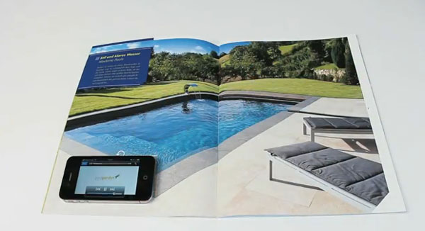 Anúncio interativo para vender piscina
