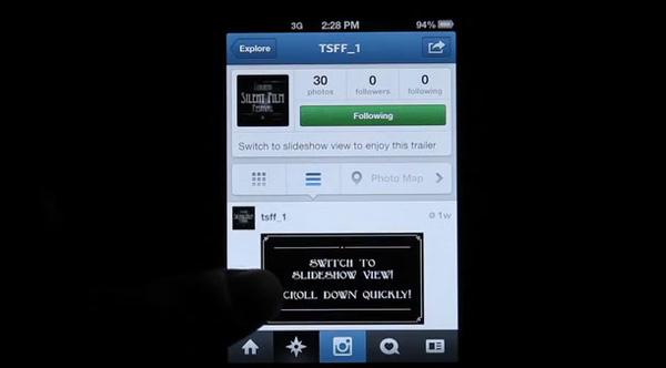 Trailers mudos feitos no Instagram