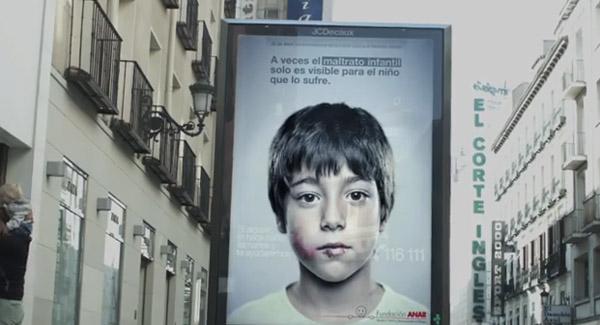 Publicidade contra violência infantil