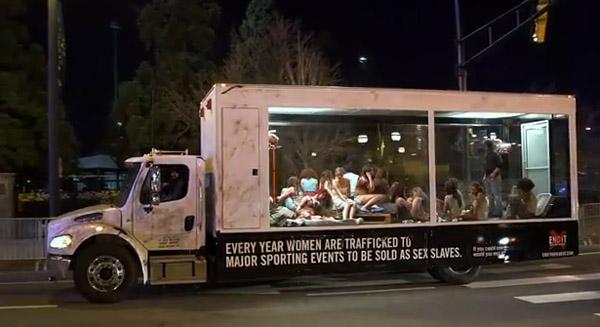 Guerrilha contra o tráfico de pessoas