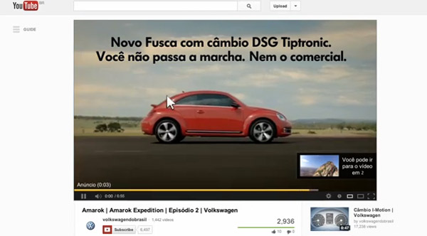 Volks se virando nos 5 segundos do YouTube