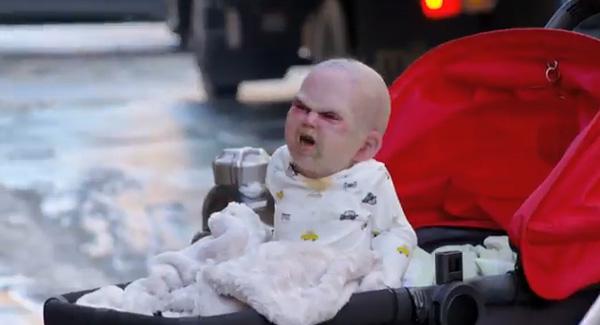 Bebê-propaganda herdeiro do diabo