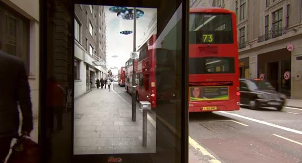 Ponto de ônibus inacreditável