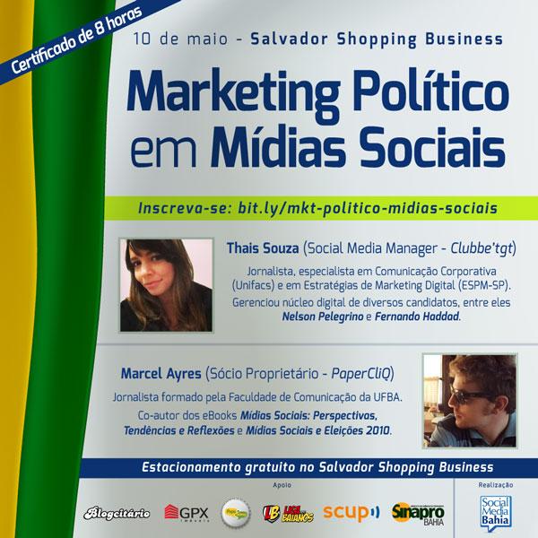 Inscrições abertas para Workshop Marketing Político em Mídias Sociais
