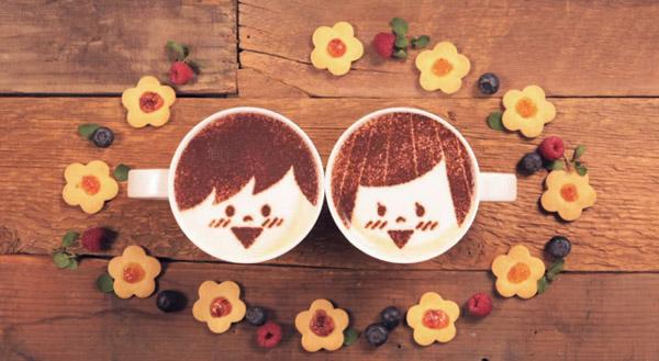 História de amor contada com mil xícaras com café