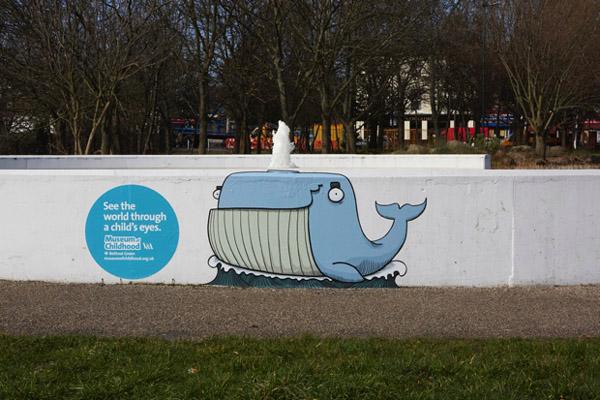Street art para anunciar arte