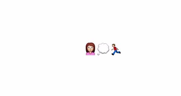 História de amor surpreendente contada com emojis