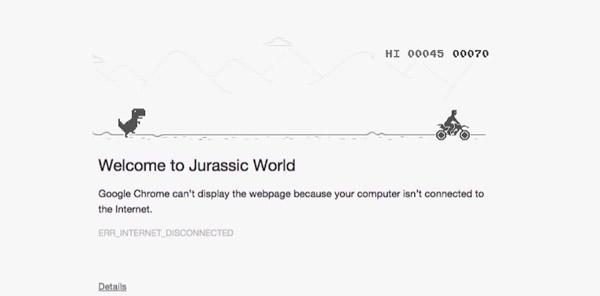 Advergame para anunciar Jurassic World