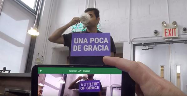 Google Tradutor em ação