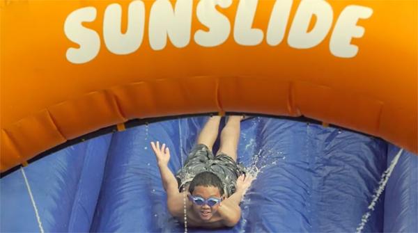 Proteção solar divertida para crianças